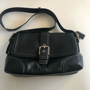 Coach Black Leather Purse and Coin Purse